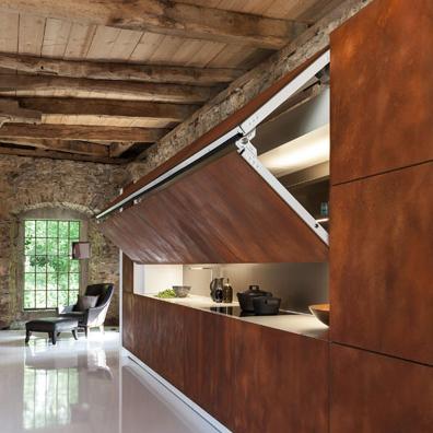 Les cuisines se cachent inspiration cuisine - Cuisine cachee par des portes ...