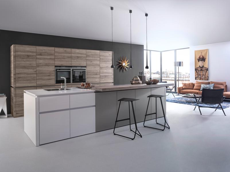 La cuisine en bois une tendance ind modable inspiration cuisine - Ilot central cuisine hygena ...