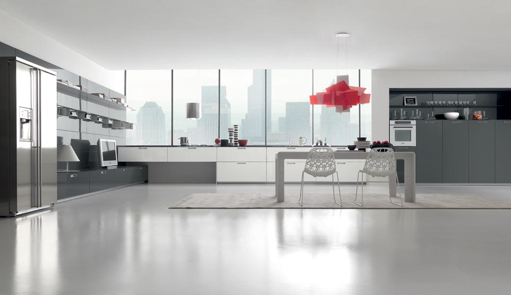 La cuisine grise une tendance lumineuse inspiration - Cuisine gris clair et blanc ...
