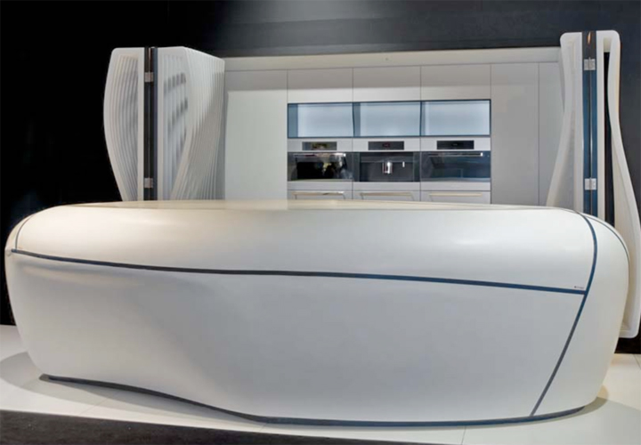La cuisine futuriste hi macs de lg hausys inspiration for Cuisine futuriste