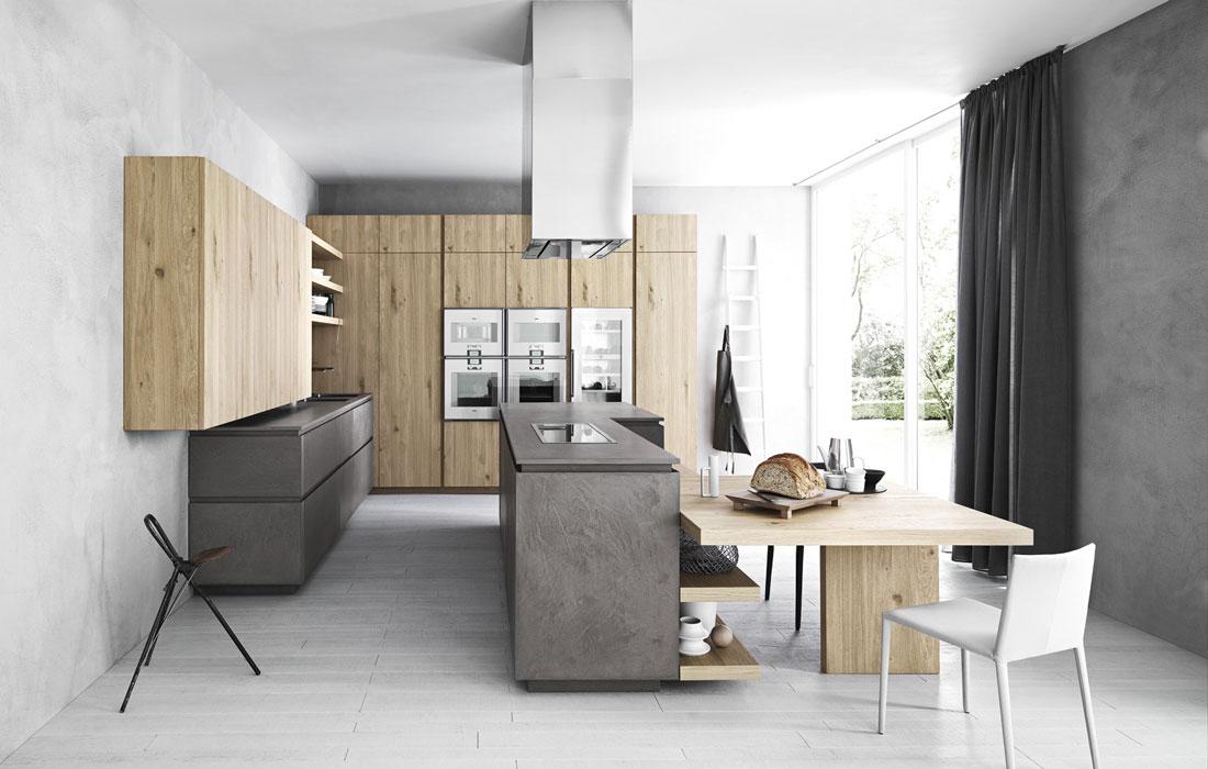 Les cuisines en bois le retour au naturel inspiration for Cuisine cesar prix