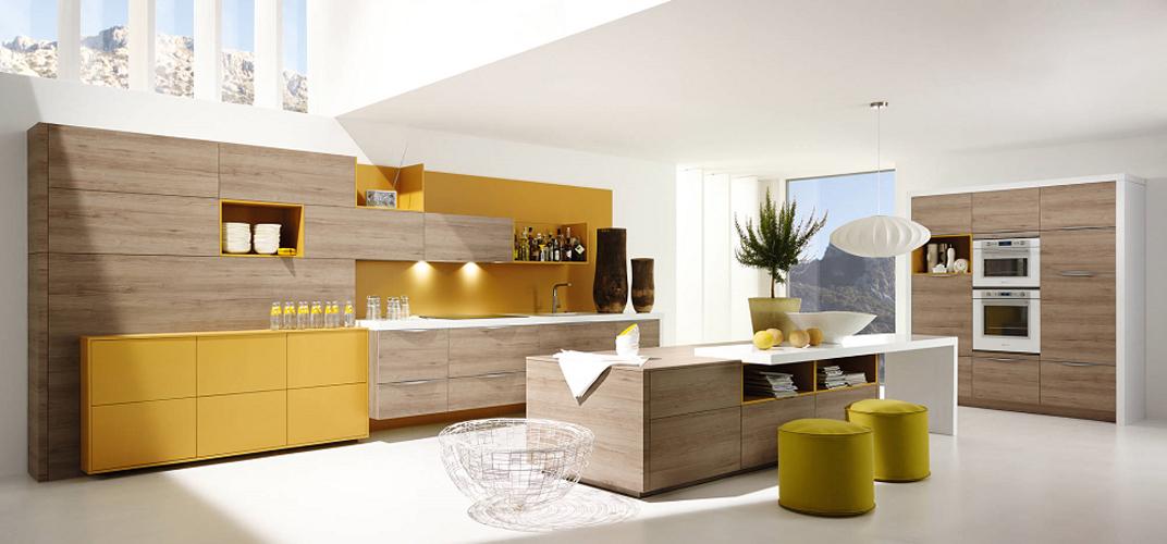 Les cuisines en bois le retour au naturel inspiration for Cuisine ouverte en bois