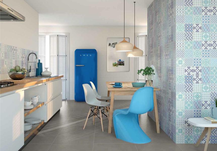Dix cuisines avec un coin repas inspiration cuisine - Cocina blanca y azul ...