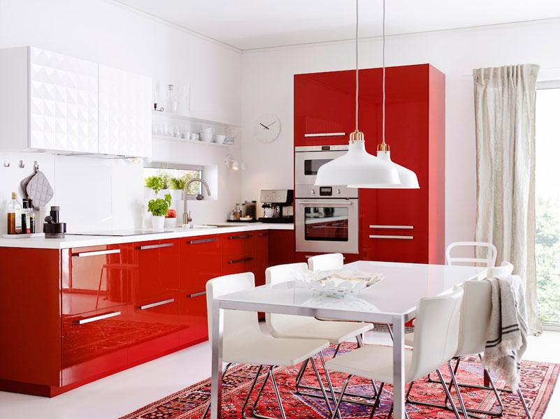 Dix cuisines avec un coin repas inspiration cuisine - Cuisine ikea abstrakt blanc laque ...
