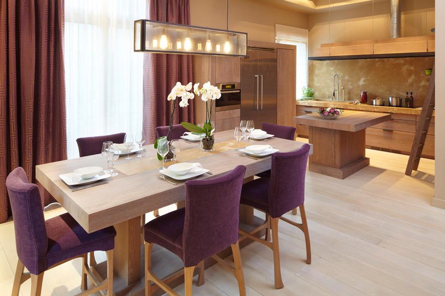 Dix cuisines avec un coin repas inspiration cuisine for Chaise de salle a manger prune
