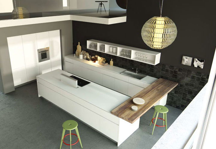 dix cuisines blanches aux lignes pur es inspiration cuisine. Black Bedroom Furniture Sets. Home Design Ideas