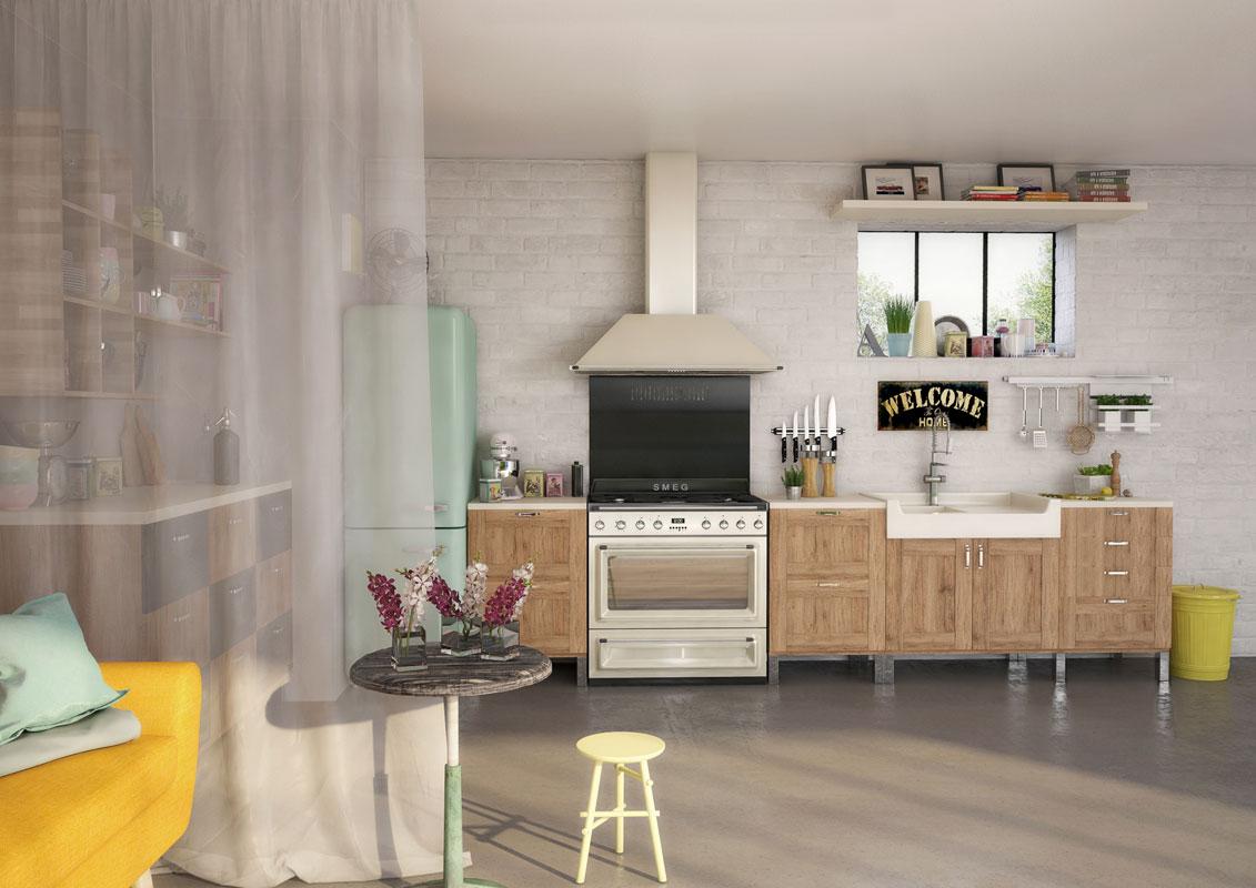 Meubles cuisine vintage meuble de cuisine retro id es de for Meuble cuisine retro