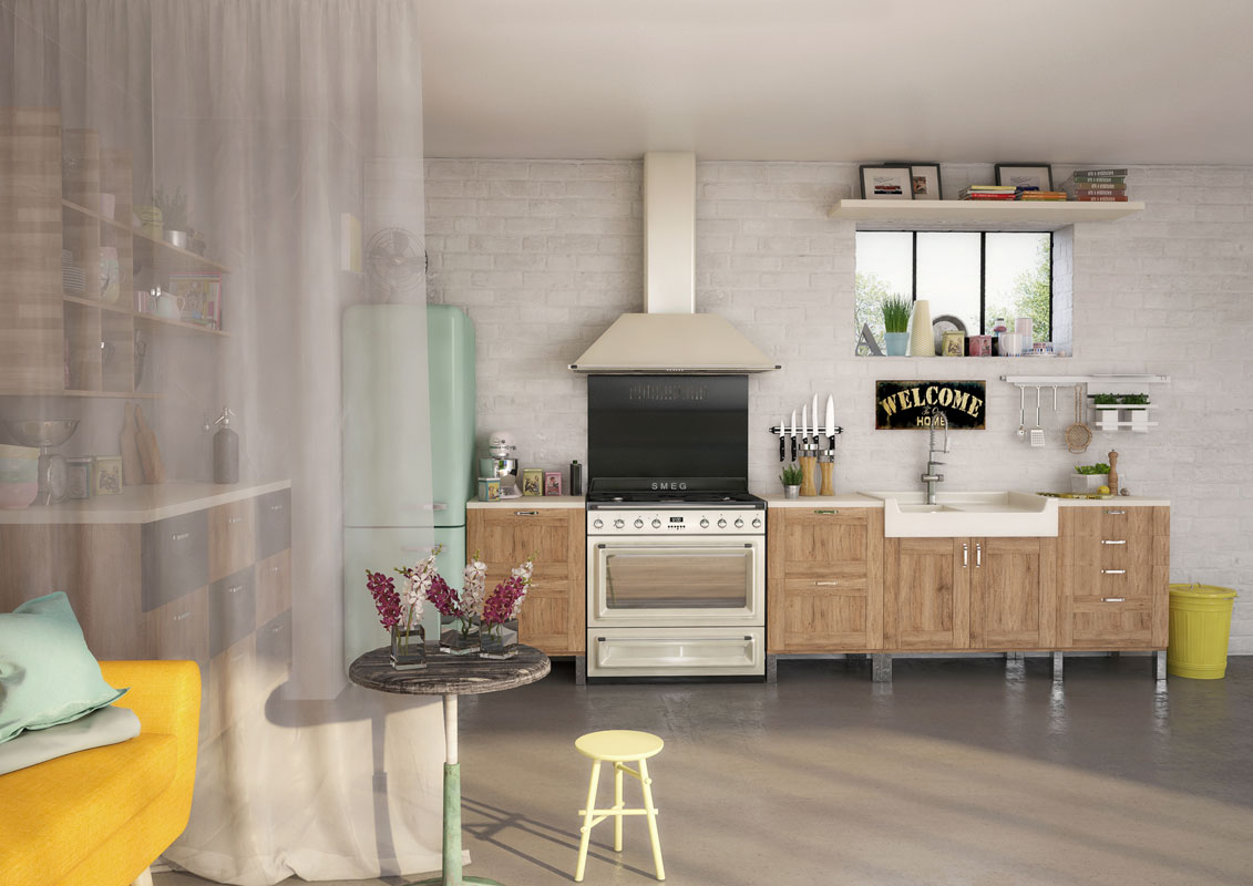 Cinq cuisines l 39 esprit fifties inspiration cuisine for Piano en cuisine