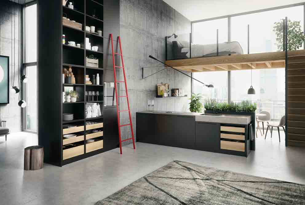 cuisines avec lot central inspiration cuisine. Black Bedroom Furniture Sets. Home Design Ideas