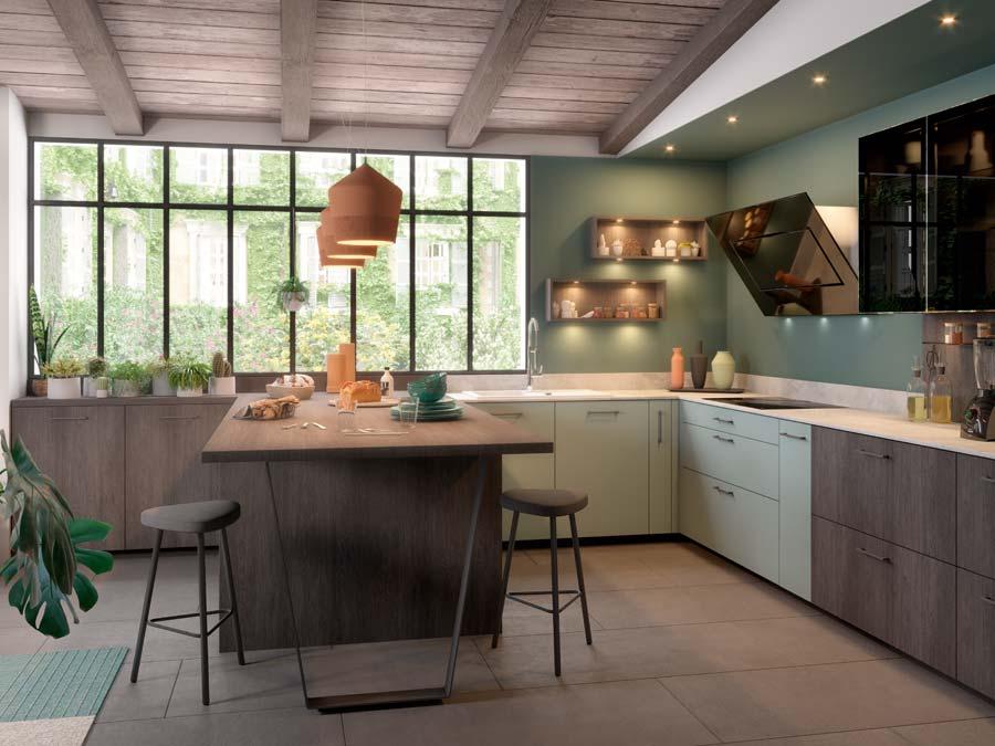 8 couleurs tendance adopter dans la cuisine inspiration cuisine. Black Bedroom Furniture Sets. Home Design Ideas