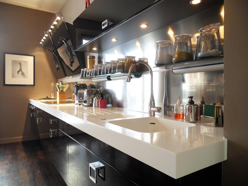 Cuisine Comprex. Réalisation Joss Décoration. Photos inspirationcuisine.com