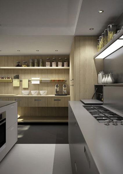 Modèle H25 d'Hardy Inside. Crédence en inox. Crédence de cuisine.