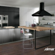 La cuisine bois et inox d'Elmar