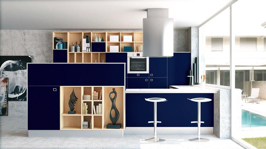 Armoire De Cuisine Bleu Marin